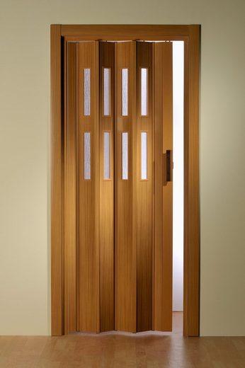 Kunststoff-Falttür »Luciana«, BxH: bis 88,5x202 cm, kürzbar, Fenster mit Riffelstruktur