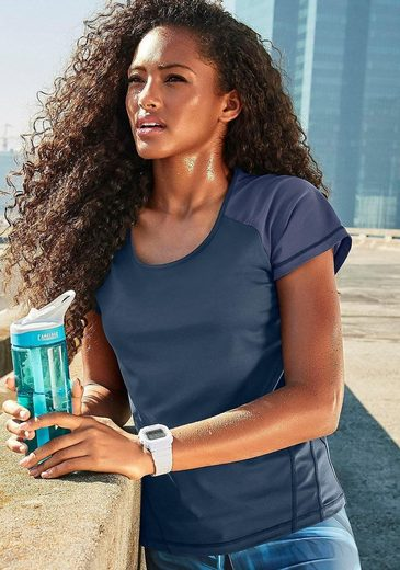LASCANA ACTIVE Kurzarmshirt »Like a Feather« mit Mesh-Einsätzen