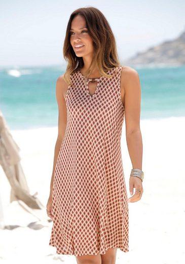 LASCANA Strandkleid mit Ringdetail am Ausschnitt
