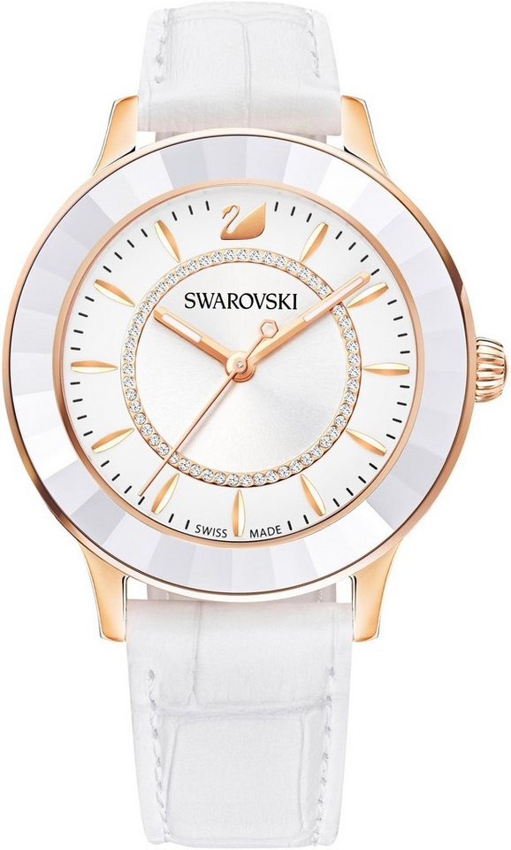 Swarovski Schweizer Uhr »Octea Lux, 5414416« | Uhren > Schweizer Uhren | Weiß | Swarovski