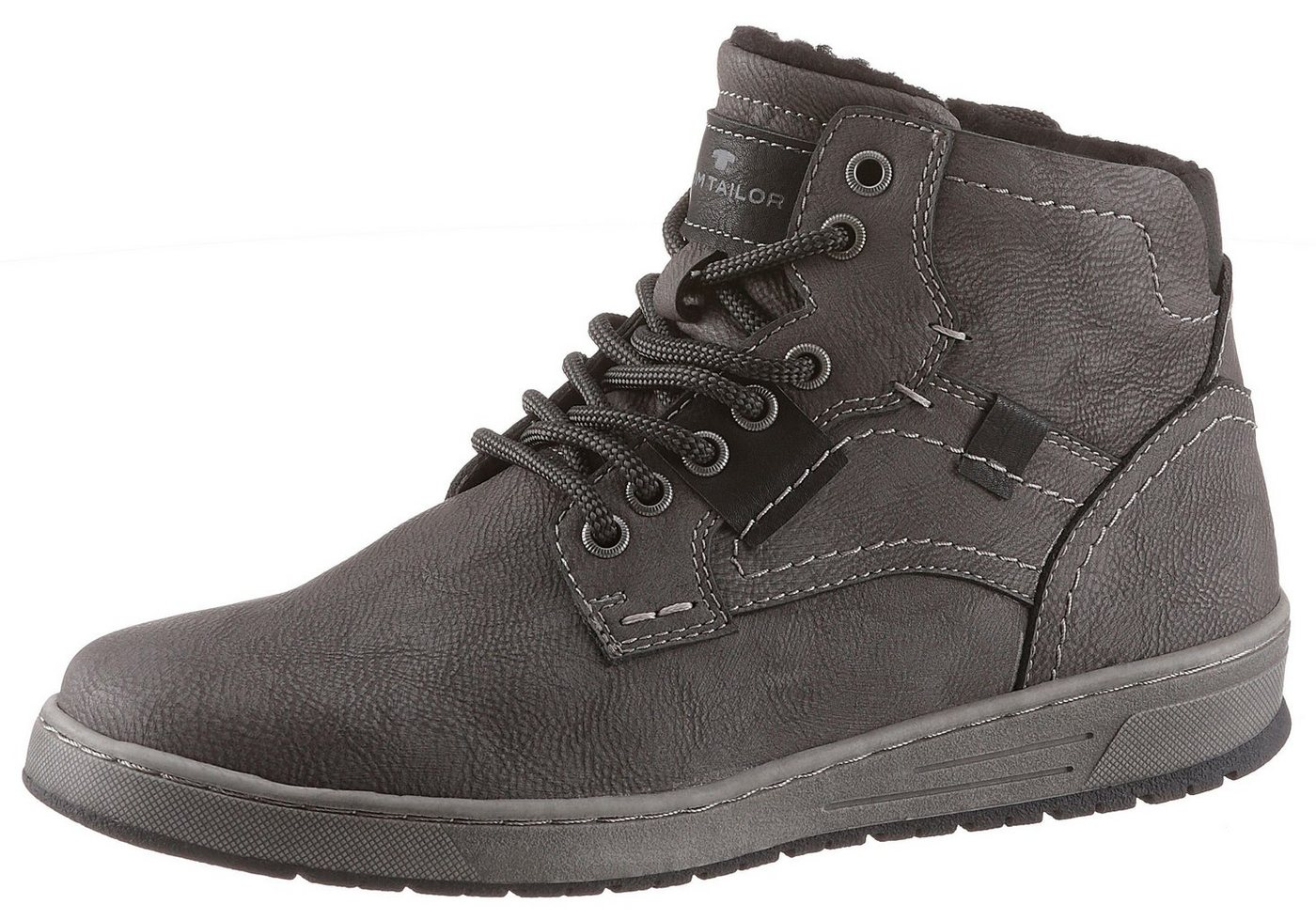 Herren TOM TAILOR Sneaker mit Warmfutter blau, braun, grau, schwarz | 04058219969430