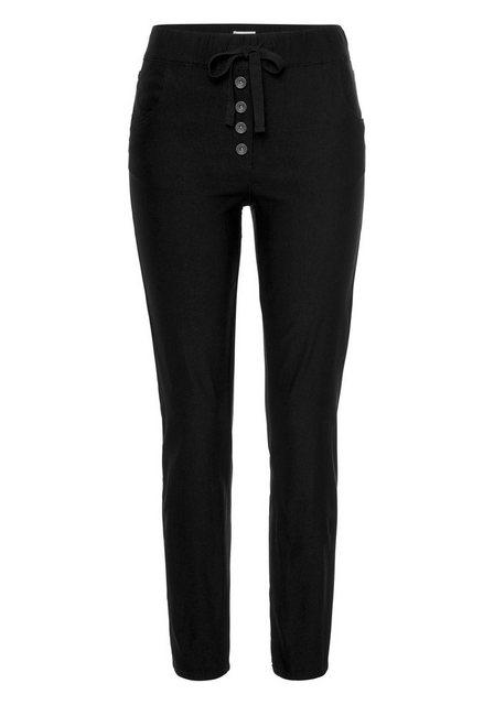 Hosen - Boysen's 7 8 Hose mit dekorativem Knopfverschluss › schwarz  - Onlineshop OTTO