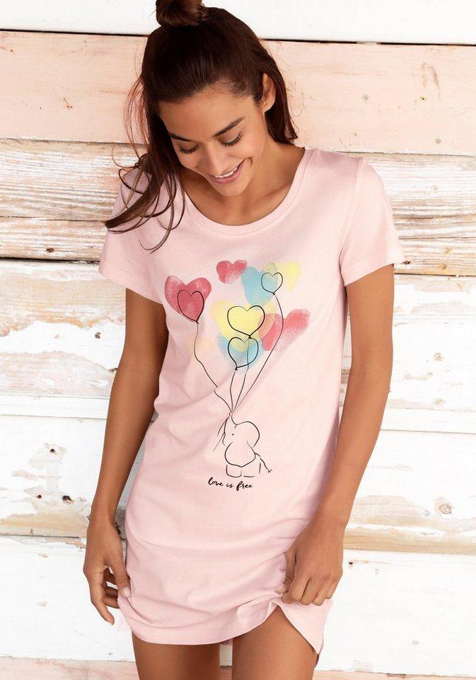 cd4062d6d18497 Vivance Dreams Nachthemd mit Elefantenmotiv kaufen | OTTO