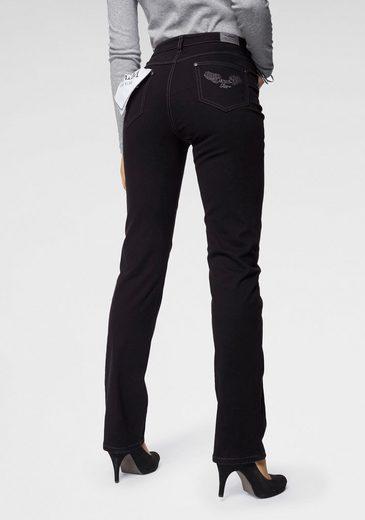 Arizona Gerade Jeans »Annett« High Waist - Mit Arizona -Tuch