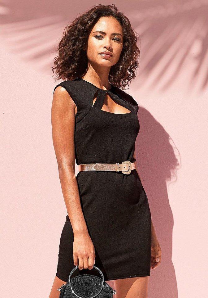 Festtagsmode - LASCANA Cocktailkleid mit eleganter Ausschnittlösung › schwarz  - Onlineshop OTTO