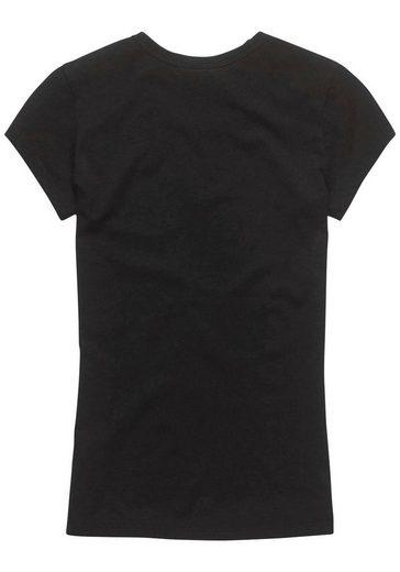 frontdruck »graphic G Raw Wmn s« Mit Logo star Schwarz Slim R T shirt S T 20 JTKlFc1