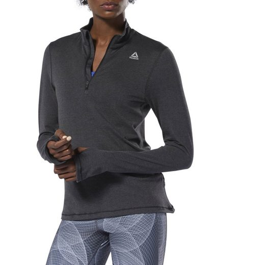 Reebok Kapuzensweatjacke »Running Essentials Quarter-Zip Top«