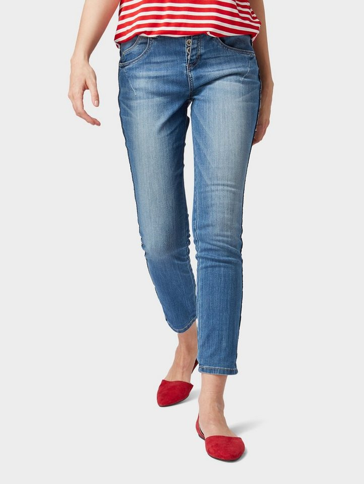56f30ac90da TOM TAILOR Tapered-fit-Jeans »Tapered Relaxed Hose in 7/8-Länge ...