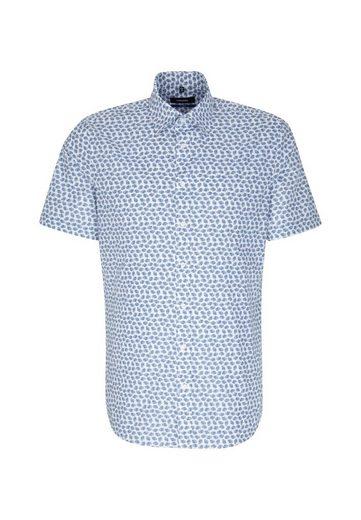 seidensticker Businesshemd »Shaped« Shaped Kurzarm Covered-Button-Down-Kragen Print