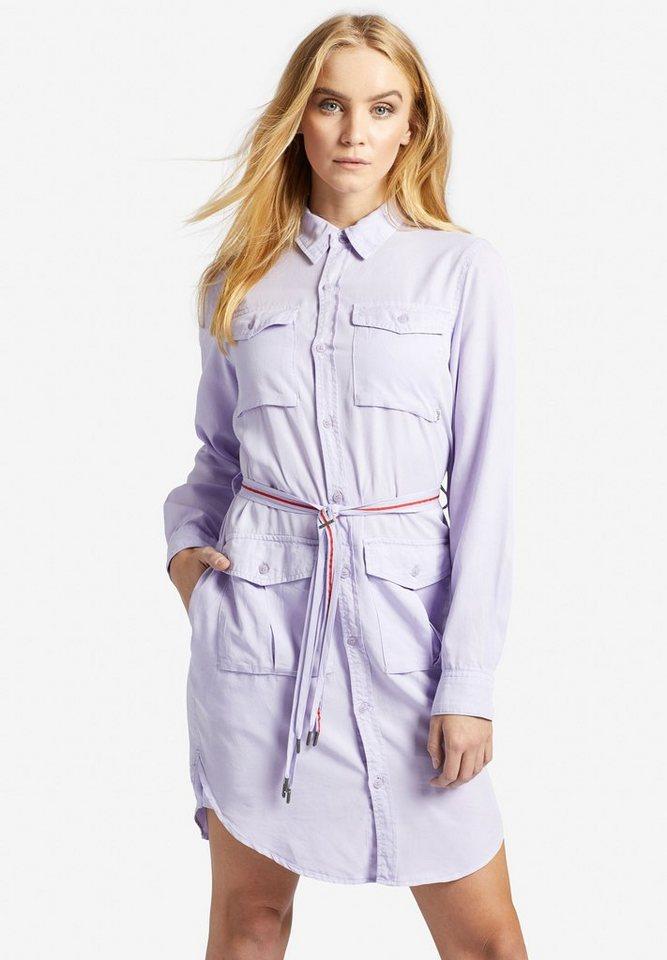 khujo Blusenkleid »LEANNA« (1-tlg) mit Taschen und Gürtel zum binden