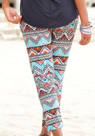 s.Oliver Beachwear Strandhose mit Ethnoprint
