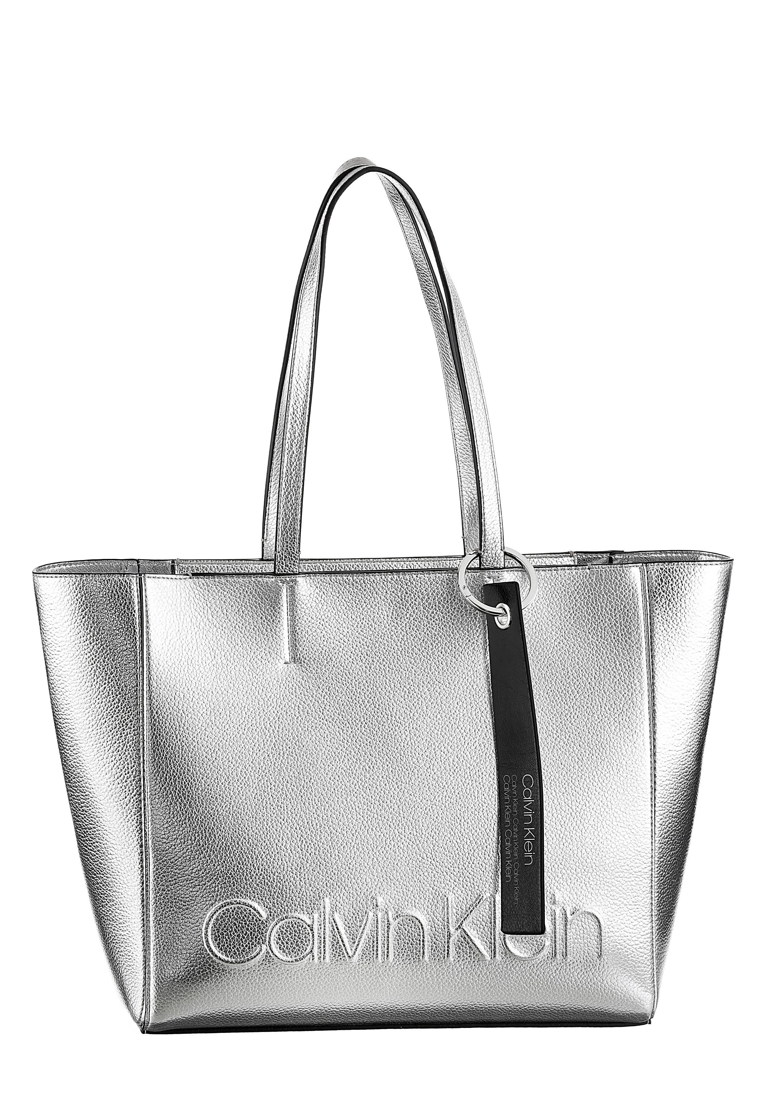Calvin Optik Met« Shopper Metallic »edged In Klein rFZqYwr