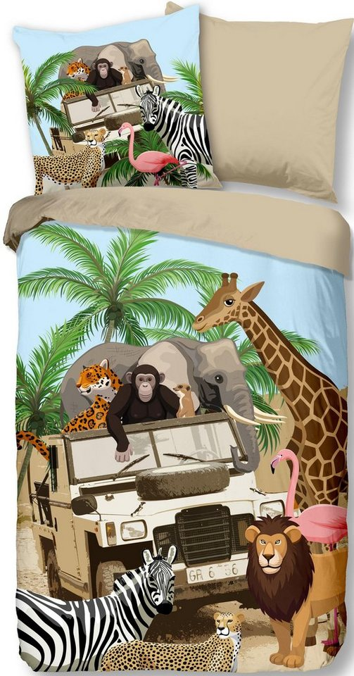 Wendebettwäsche Jeep Jungle Good Morning Mit Safari Motiv Online Kaufen Otto