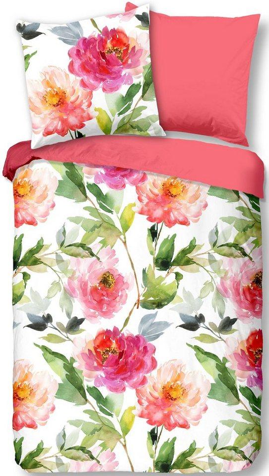 Wendebettwasche Rosa Good Morning Mit Blumen Print In Aquarelloptik Online Kaufen Otto
