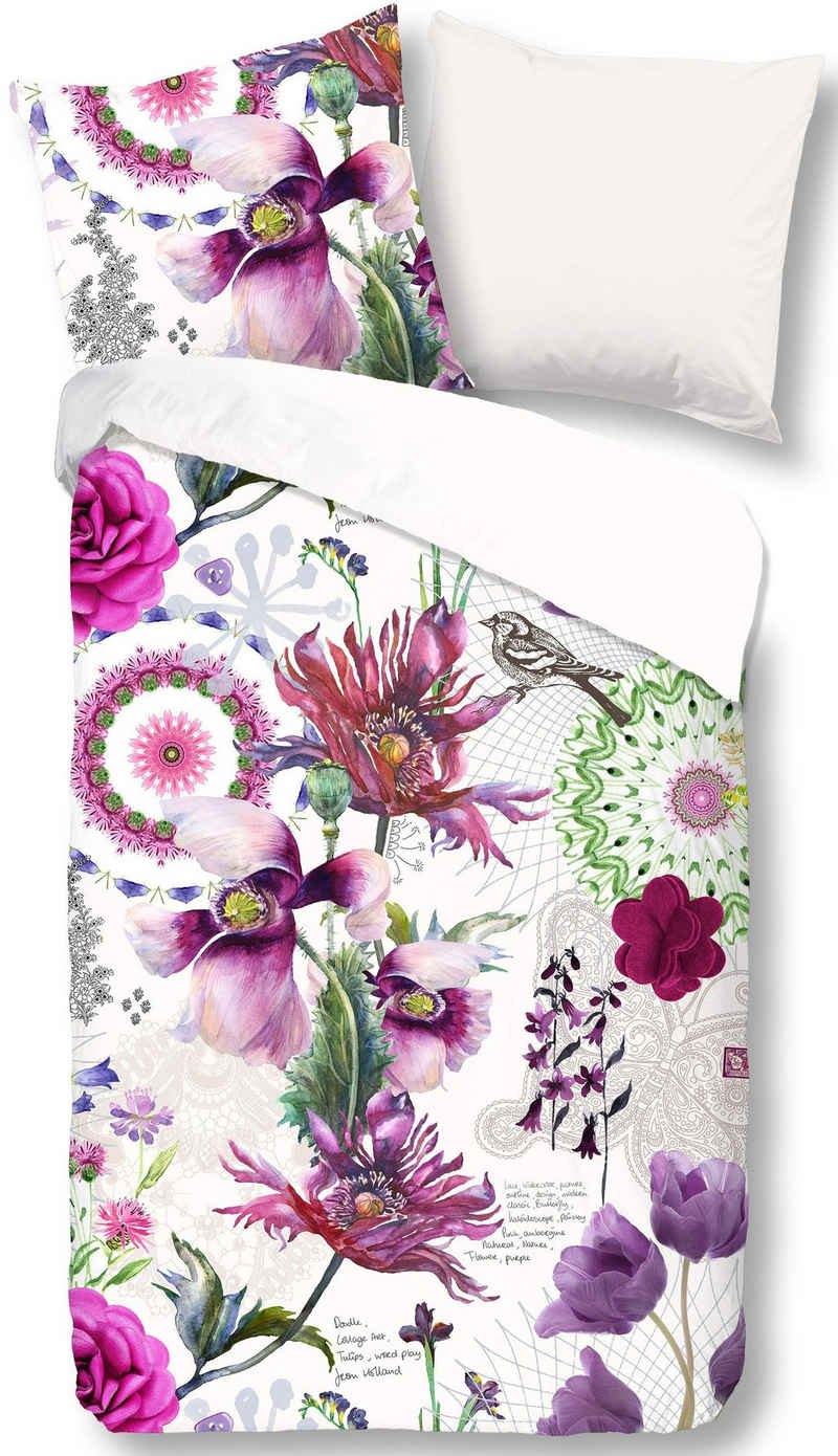 Wendebettwäsche »Flora«, good morning, mit Blumen