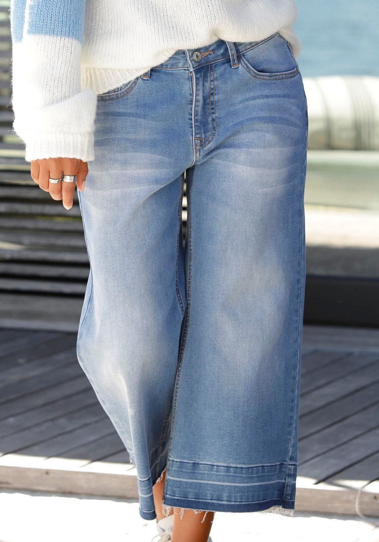 Buffalo Culotte Jeans mit ausgefransten Abschlüssen online kaufen | OTTO