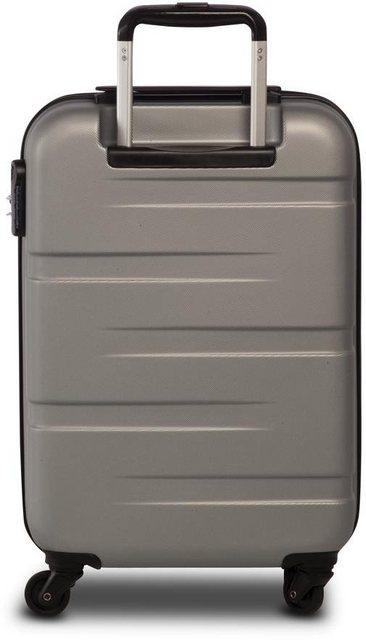 fabrizio® Hartschalen-Trolley »Formation S, 56 cm, Silberfarben«, 4 Rollen | Taschen > Koffer & Trolleys > Trolleys | Abs | fabrizio®