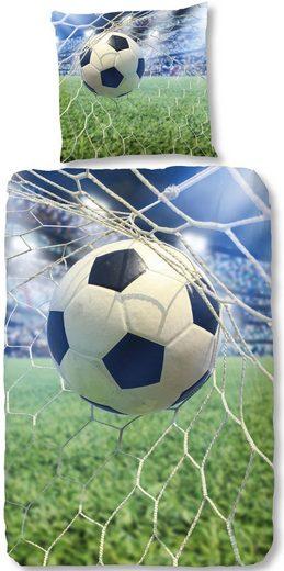Kinderbettwäsche »Sander«, good morning, mit großem Fußball