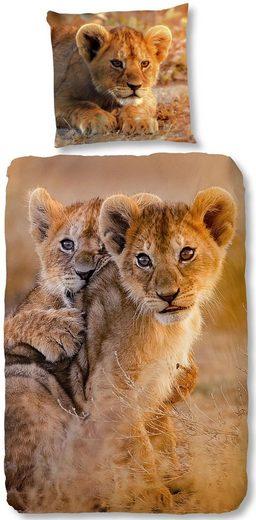 Kinderbettwäsche »Baby Lion«, good morning, mit Löwenbaby