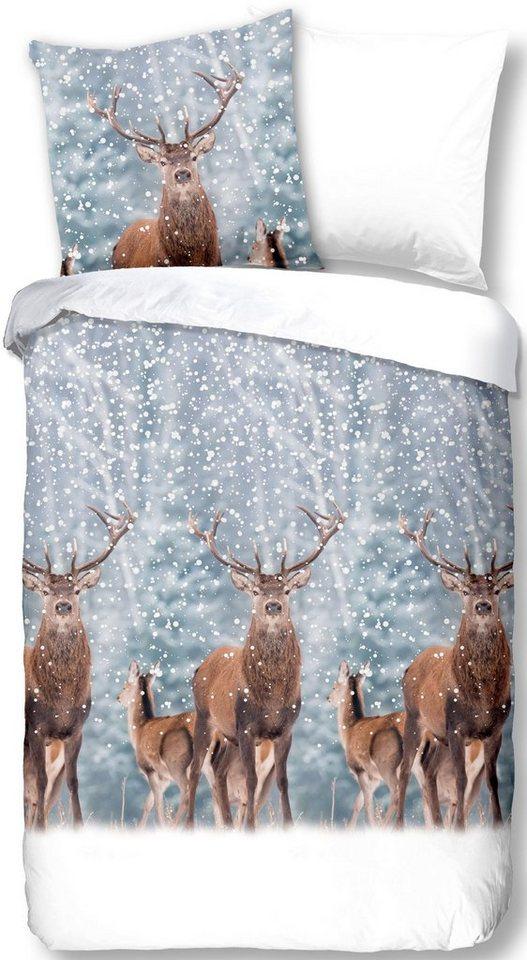 Wendebettwasche Deer Good Morning Mit Hirschen Otto