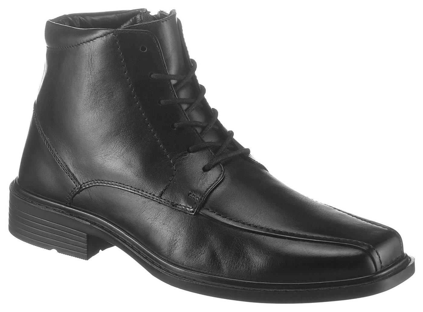 Herren PETROLIO Schnürstiefelette in klassischem Design schwarz | 08904258912479