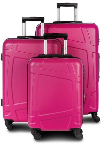 "FABRIZIO ® Trolleyset ""Globe Pink""..."