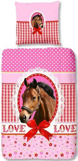 Kinderbettwäsche »My horse«, good morning, mit Pferd und Schriftzug