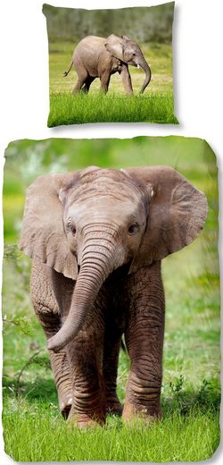 Kinderbettwäsche »Elephant«, good morning, mit Elefant
