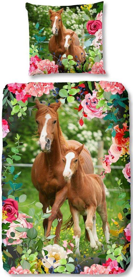 Kinderbettwasche Foal Good Morning Mit Pferden Otto
