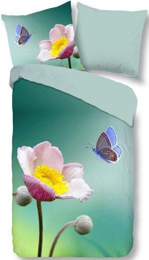 Wendebettwäsche »Anemone«, good morning, mit Blumenblüte