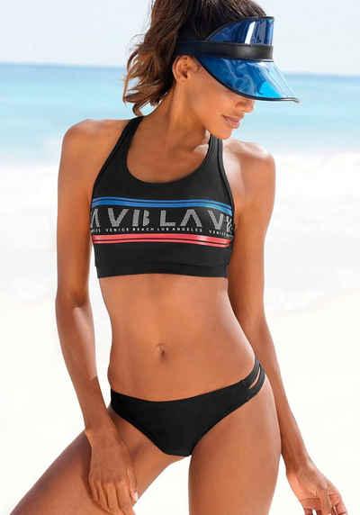 Venice Beach Bustier-Bikini Mit Logodruck