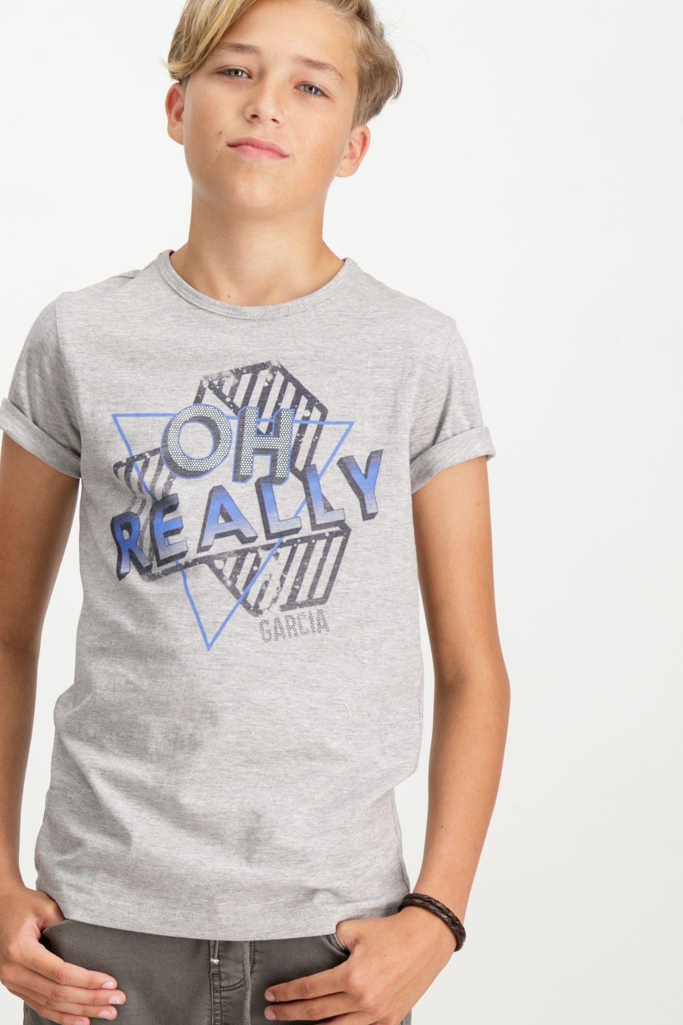 Garcia T-Shirt mit Textdruck
