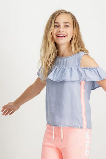 Garcia Klassische Bluse im Denim-Look