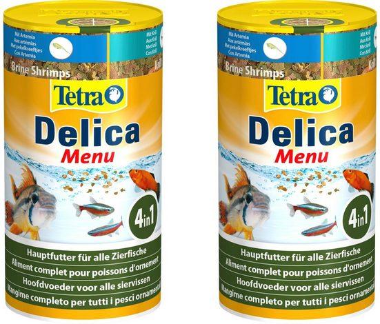 Tetra Fischfutter »Delica Menu«, Flockenfutter 2x100 ml