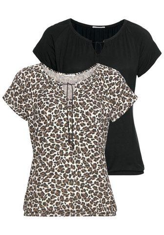 LASCANA Marškinėliai trumpomis rankovėmis