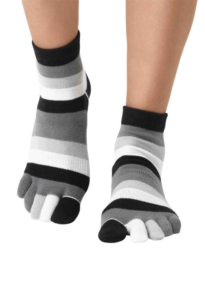 Sympatico Zehensocken im Streifenmuster weich und atmungsaktiv