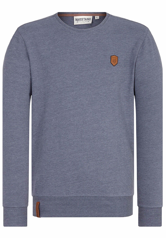 NAKETANO Al K.Ohol Sweatshirt für Herren Grau