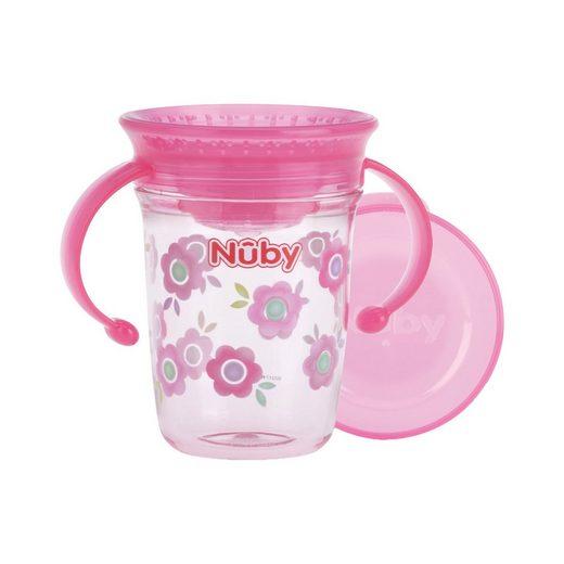 """Nuby 360° Trinklerntasse mit Griffen aus Tritan """"WONDER CUP"""", 240"""