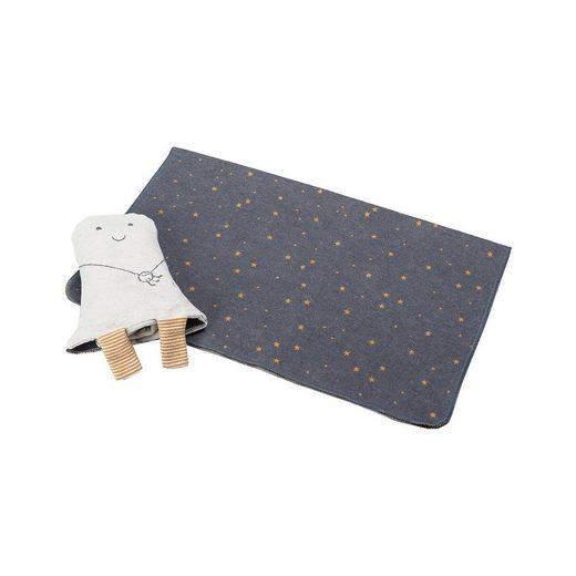"DAVID FUSSENEGGER Decke in Puppe ""Gespenst"", grau, 70 x 90 cm"