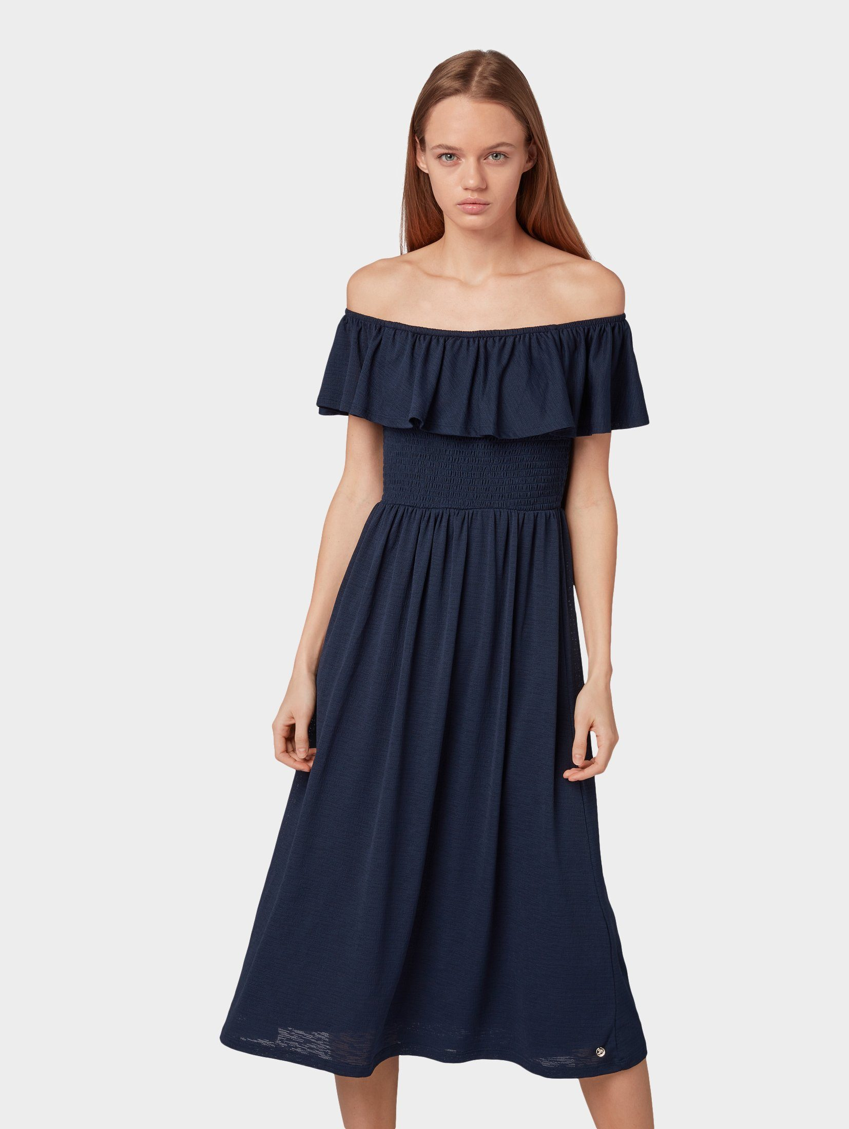 TOM TAILOR Denim Off-Shoulder-Kleid »Carmen-Kleid«