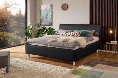ADA trendline Polsterbett »Fossey«, Lederbett wahlweise mit Matratze und Lattenrost, in verschiedenen Größen und Härtegraden