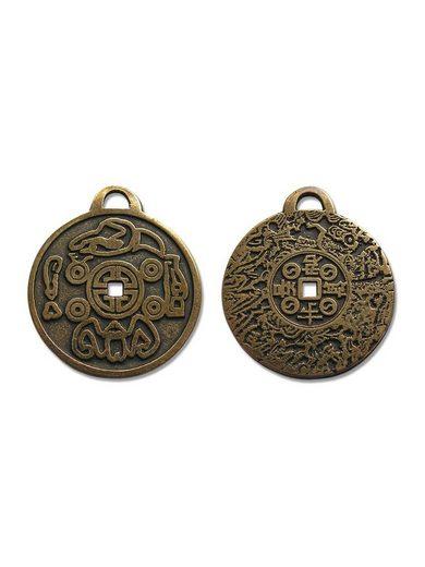 Adelia´s Amulett »Alte Symbole Talisman«, Koreanische Glücksmünze - Für Erfolg und Glück im Leben