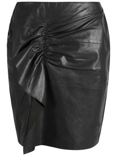 Y.A.S Bleistiftrock »YASXHOSA LEATHER SKIRT« Volant