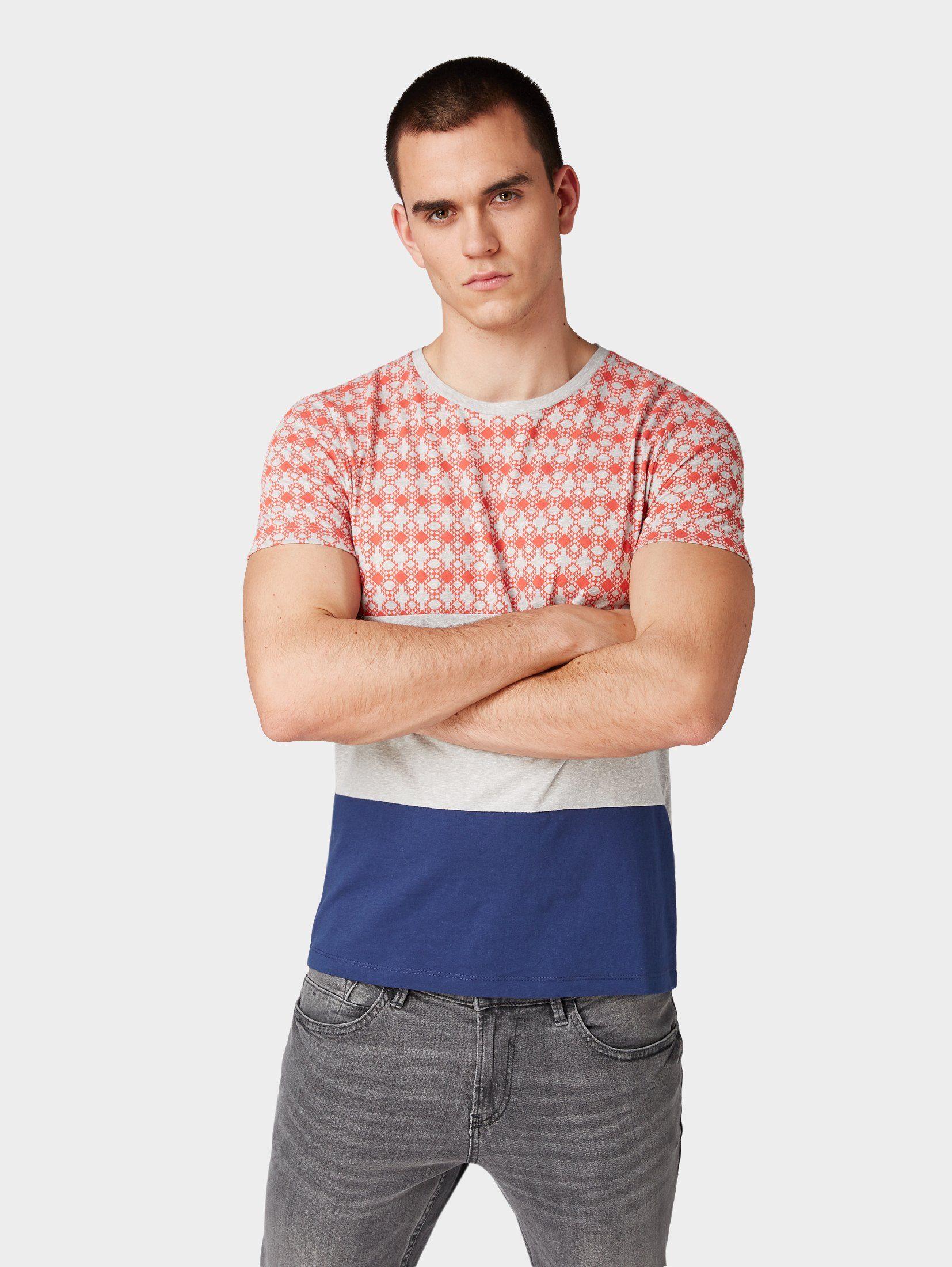 TOM TAILOR Denim T-Shirt »T-Shirt mit Musterung«