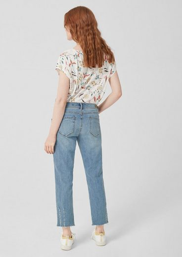 s.Oliver Cropped Straight: Used Denim