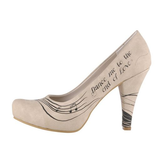 DOGO »dance me to the end of love« High-Heel-Pumps Vegan
