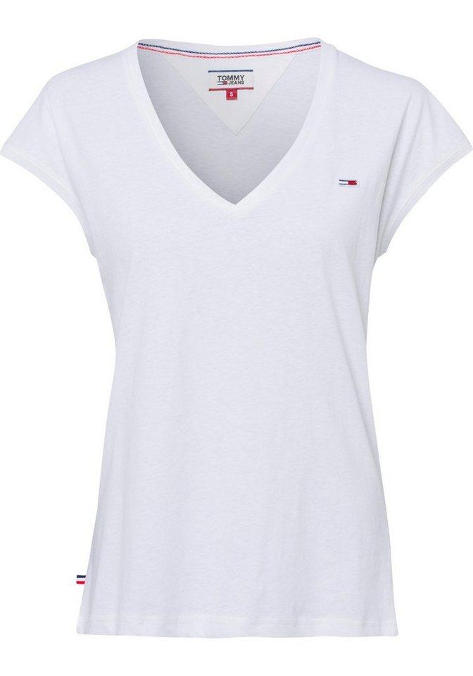 c89d60860b2d3 TOMMY JEANS T-Shirt aus angenehmen Baumwolle-Leinen-Jersey online ...