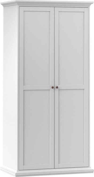 Home affaire Drehtürenschrank »Paris« im romatischen Landhaus-Stil und schönem Holzfurnier, Höhe 200,5 cm