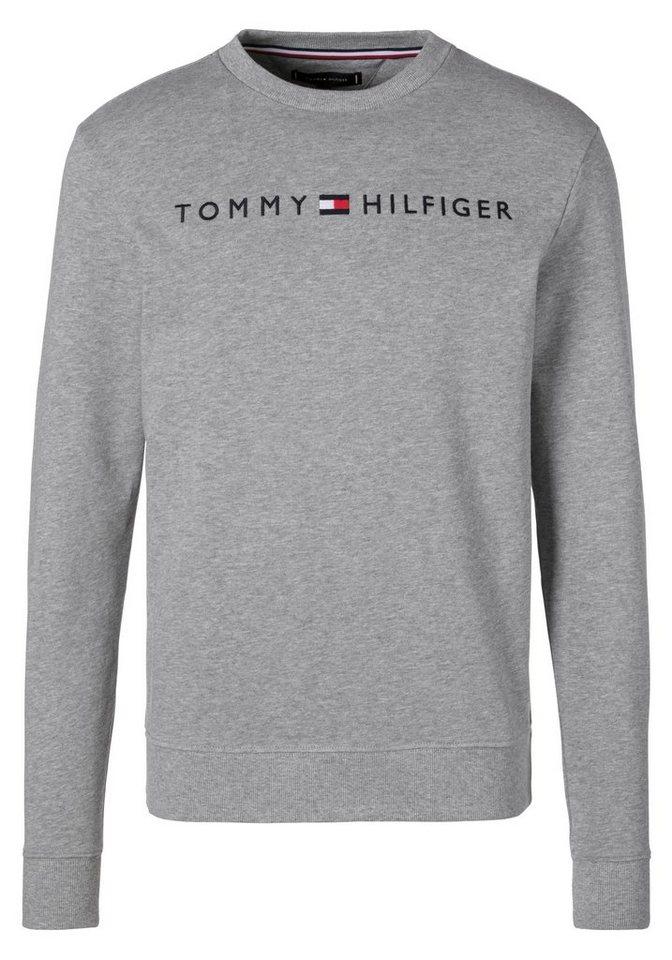 tommy hilfiger sweatshirt mit aufgestickten markenschriftzug auf der brust online kaufen otto. Black Bedroom Furniture Sets. Home Design Ideas