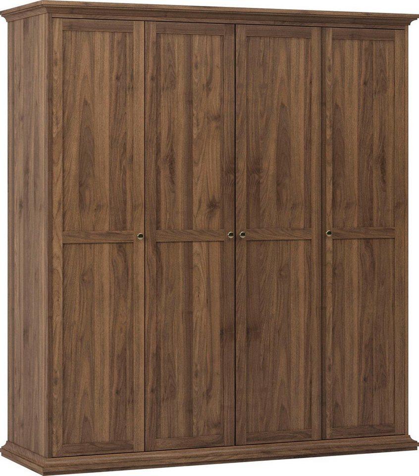 Kleiderschränke - Home affaire Kleiderschrank »Paris« im romatischen Landhaus Stil aus schönem Holzfurnier, Höhe 200,5 cm (4 türig)  - Onlineshop OTTO